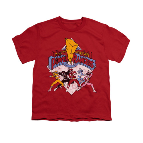 Image for Power Rangers Youth T-Shirt - Retro Rangers
