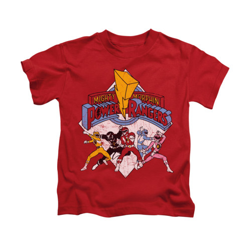 Image for Power Rangers Kids T-Shirt - Retro Rangers
