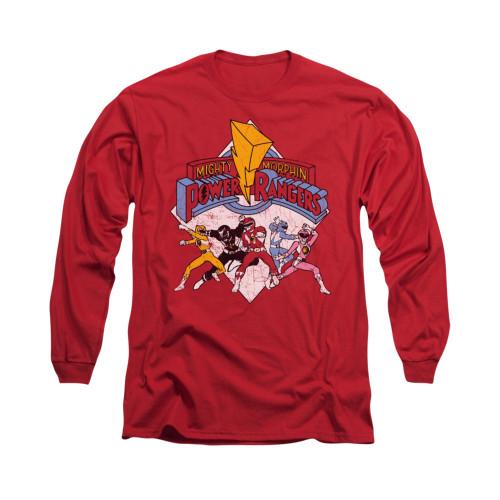 Image for Power Rangers Long Sleeve T-Shirt - Retro Rangers