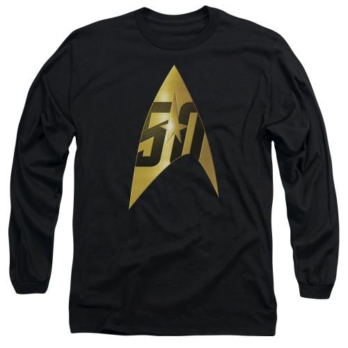 Image for Star Trek Long Sleeve T-Shirt - 50th Anniversary Delta
