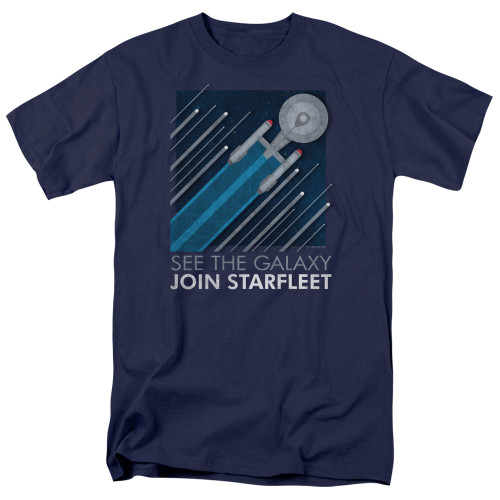 Image for Star Trek T-Shirt - See the Galaxy Join Starfleet