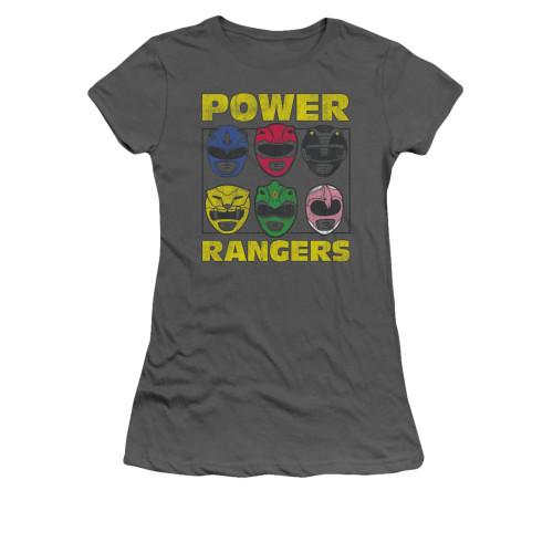 Image for Power Rangers Girls T-Shirt - Ranger Heads