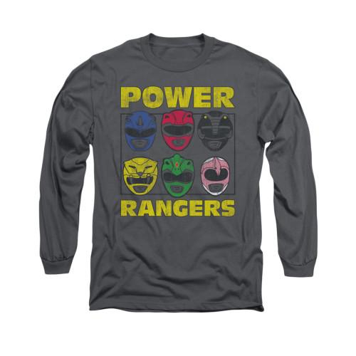 Image for Power Rangers Long Sleeve T-Shirt - Ranger Heads