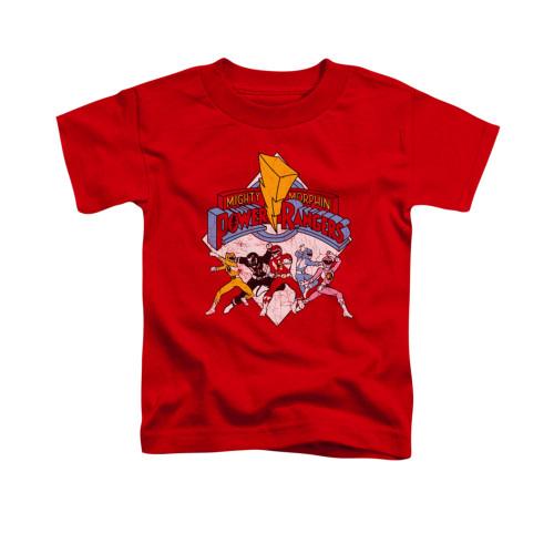 Image for Power Rangers Toddler T-Shirt - Retro Rangers