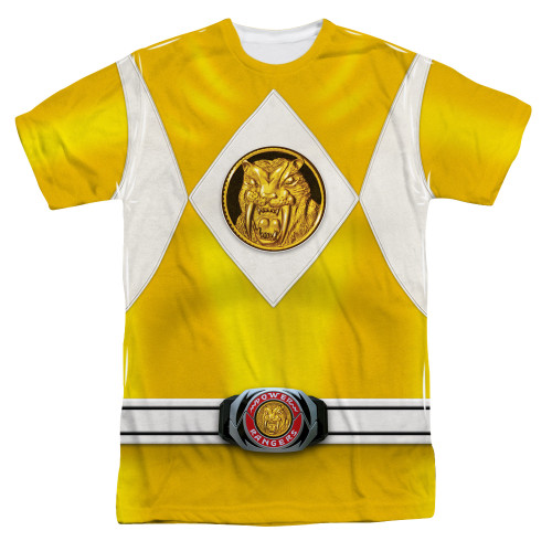 Image for Power Rangers T-Shirt - Sublimated Yellow Ranger Uniform 100% Polyester