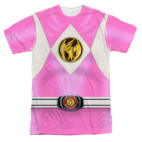 Image for Power Rangers T-Shirt - Sublimated Pink Ranger Uniform 100% Polyester