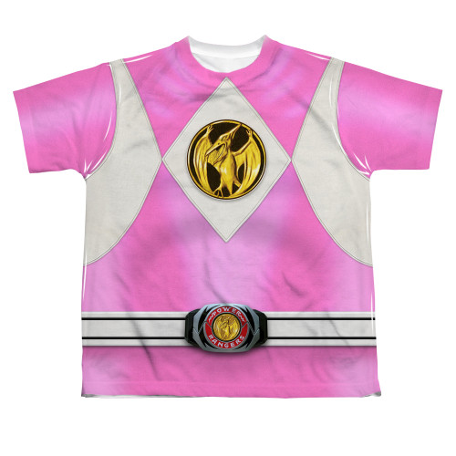 Image for Power Rangers Youth T-Shirt - Sublimated Pink Ranger Uniform 100% Polyester