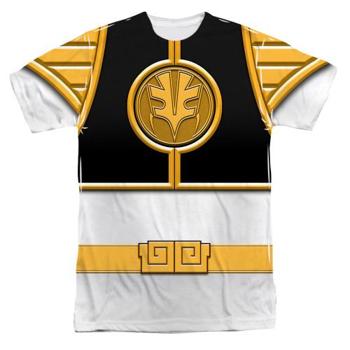 Image for Power Rangers T-Shirt - Sublimated White Ranger Uniform 100% Polyester