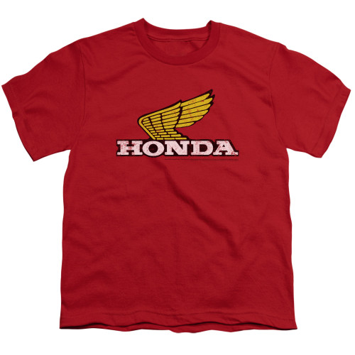 Image for Honda Youth T-Shirt - Yellow Wing Logo