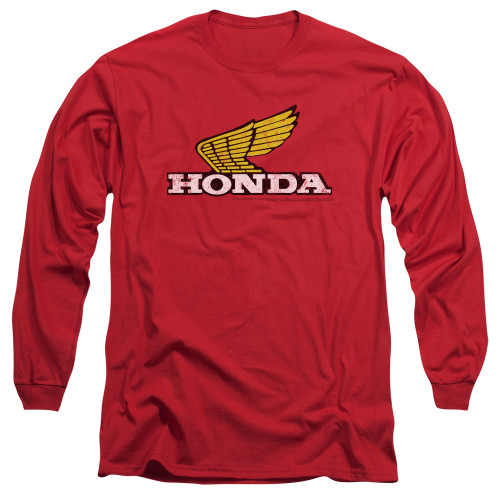 Image for Honda Long Sleeve T-Shirt - Yellow Wing Logo