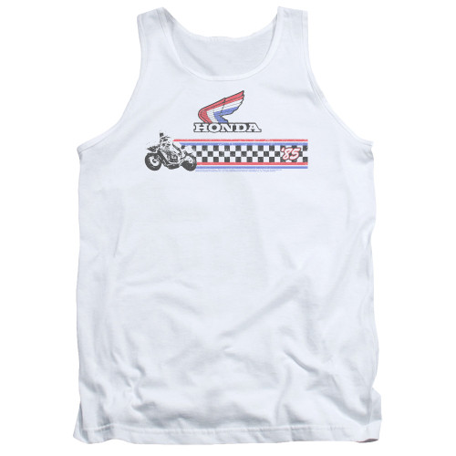 Image for Honda Tank Top - 1985 Red White Blue