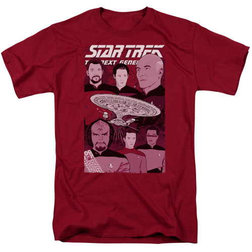 Image for Star Trek The Next Generation T-Shirt - Illustrated Captain and Crew