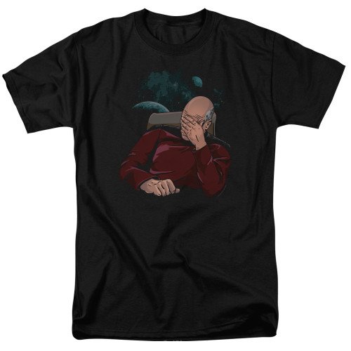 Image for Star Trek The Next Generation T-Shirt - Picard Facepalm