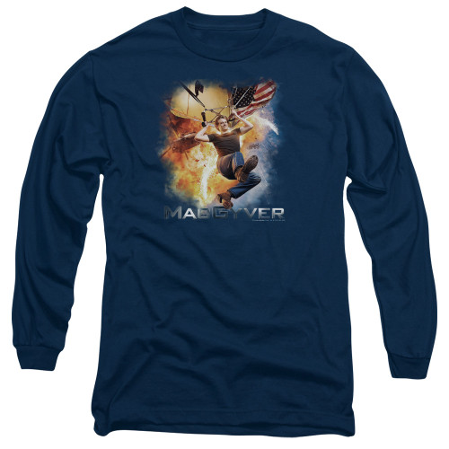 Image for MacGyver Long Sleeve T-Shirt - Parachute