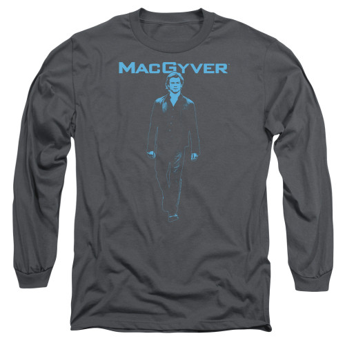 Image for MacGyver Long Sleeve T-Shirt - Mono Blue