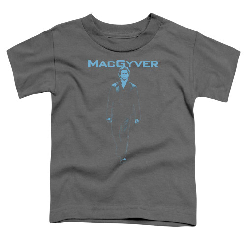 Image for MacGyver Toddler T-Shirt - Mono Blue
