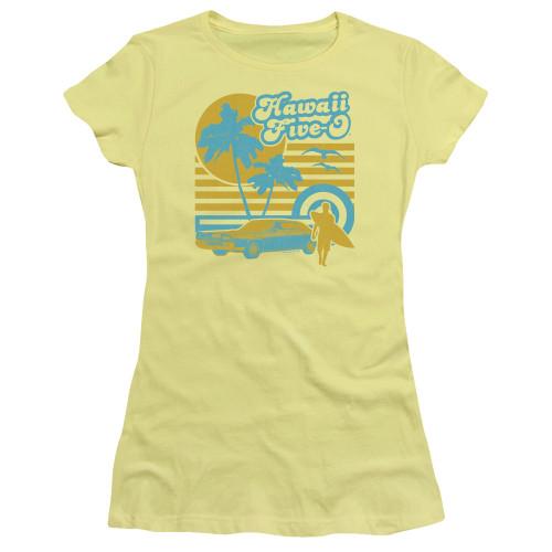 Image for Hawaii Five-0 Girls T-Shirt - 5-0 Surfer