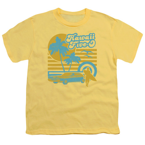 Image for Hawaii Five-0 Youth T-Shirt - 5-0 Surfer