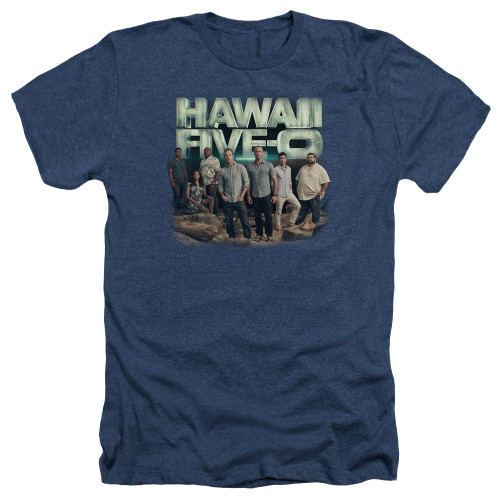 Image for Hawaii Five-0 Heather T-Shirt - Cast