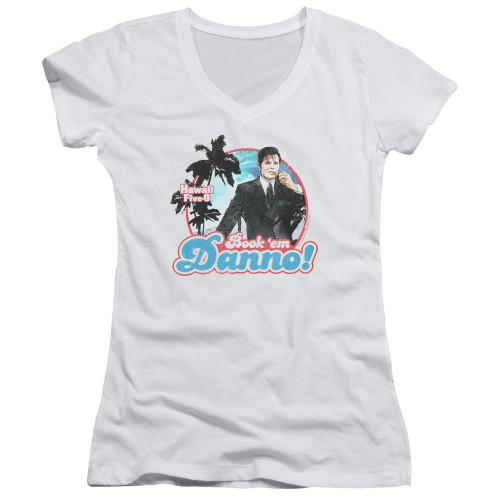 Image for Hawaii Five-0 Girls V Neck T-Shirt - Book 'Em Danno