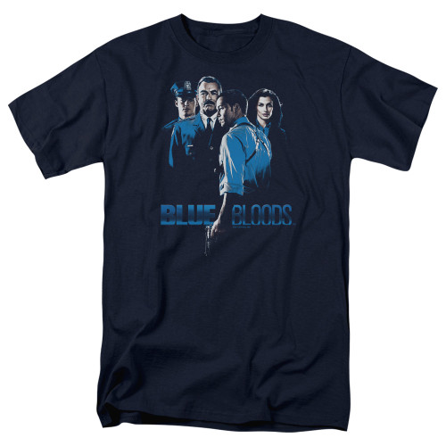 Image for Blue Bloods T-Shirt - Blue Inverted