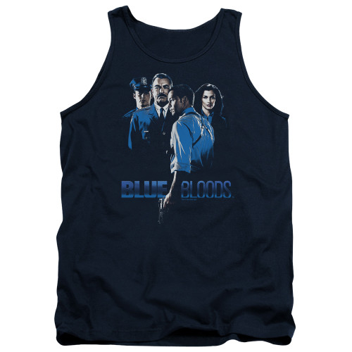 Image for Blue Bloods Tank Top - Blue Inverted