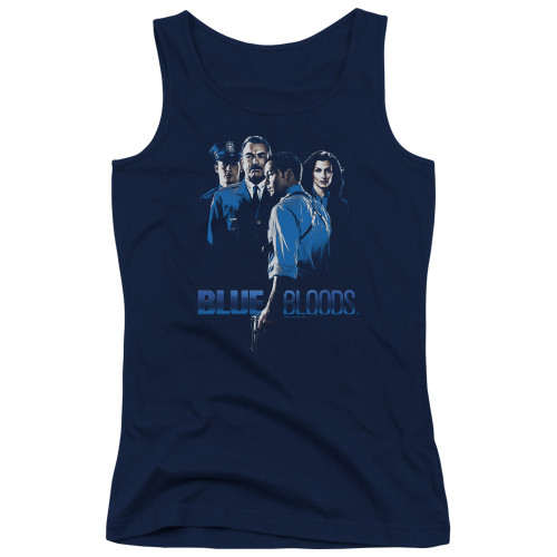 Image for Blue Bloods Girls Tank Top - Blue Inverted