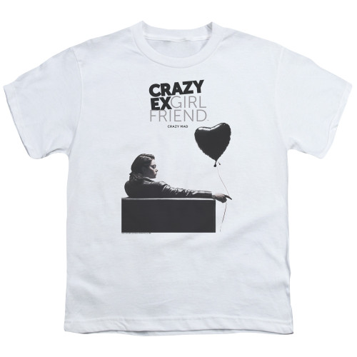 Image for Crazy Ex-Girlfriend Youth T-Shirt - Crazy Mad