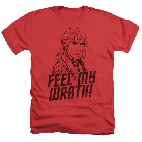 Image for Star Trek Heather T-Shirt - The Wrath of Khan Feel My Wrath