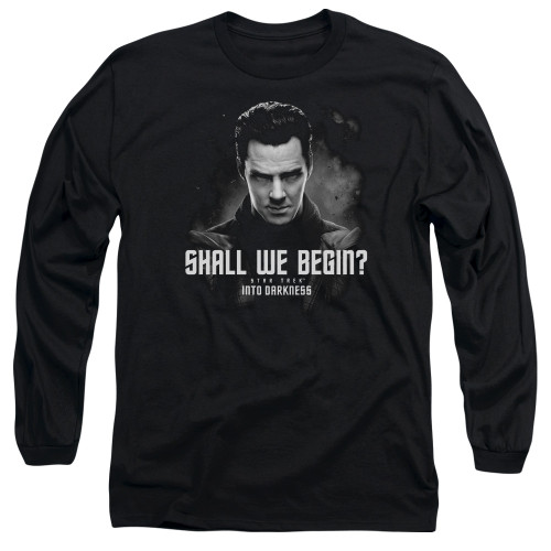 Image for Star Trek Into Darkness Long Sleeve T-Shirt - Shall We Begin
