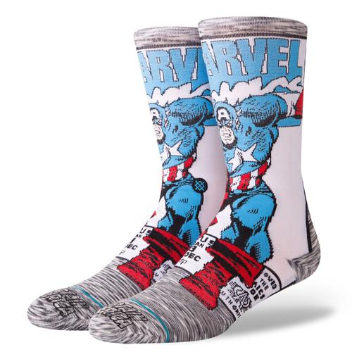 Image for Stance Socks - Captain America Comic