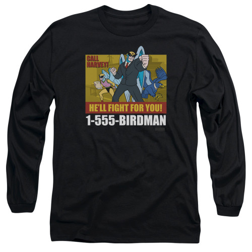 Image for Harvey Birdman Attorney at Law Long Sleeve Shirt - Law Ad