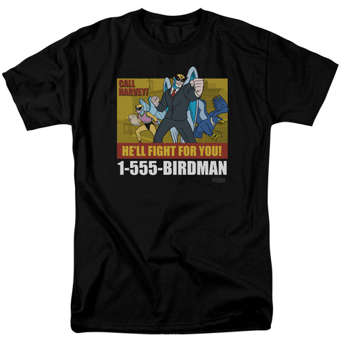 Image for Harvey Birdman Attorney at Law T-Shirt - Law Ad