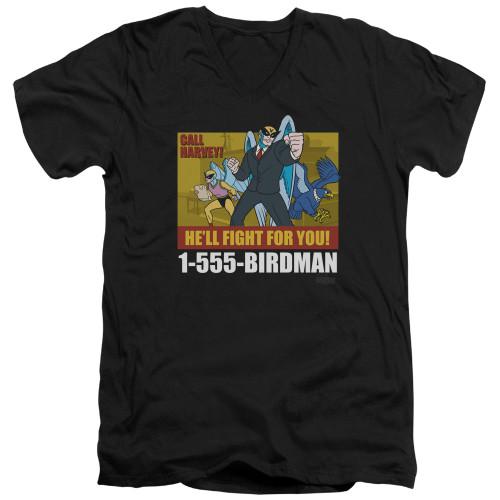 Image for Harvey Birdman Attorney at Law V Neck T-Shirt - Law Ad
