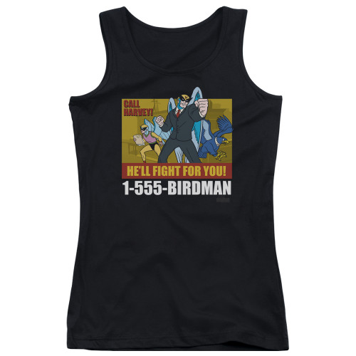 Image for Harvey Birdman Attorney at Law Girls Tank Top - Law Ad