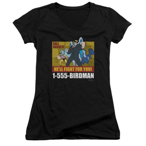 Image for Harvey Birdman Attorney at Law Girls V Neck - Law Ad
