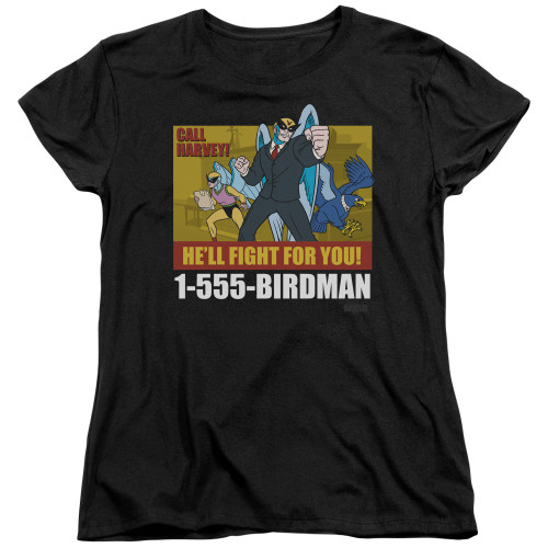 Image for Harvey Birdman Attorney at Law Womans T-Shirt - Law Ad