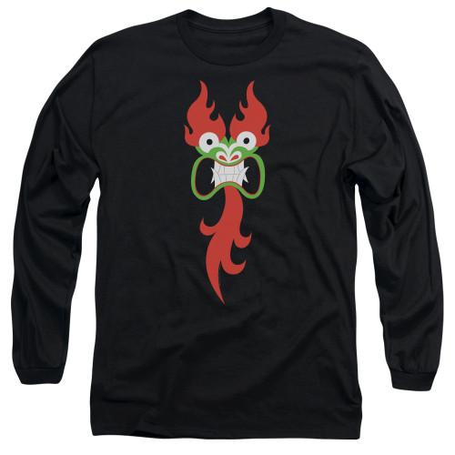 Image for Samurai Jack Long Sleeve Shirt - Aku's Face