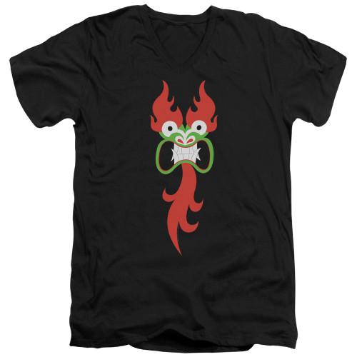Image for Samurai Jack V Neck T-Shirt - Aku's Face