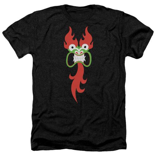 Image for Samurai Jack Heather T-Shirt - Aku's Face