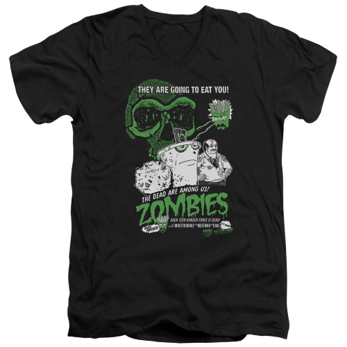 Image for Aqua Teen Hunger Force V Neck T-Shirt - Zombies