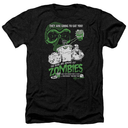 Image for Aqua Teen Hunger Force Heather T-Shirt - Zombies