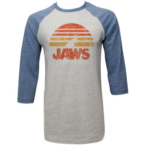Jaws 3/4 T-Shirt - Shark Sun