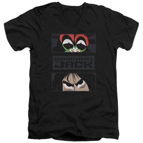 Image for Samurai Jack V Neck T-Shirt - Stare Down