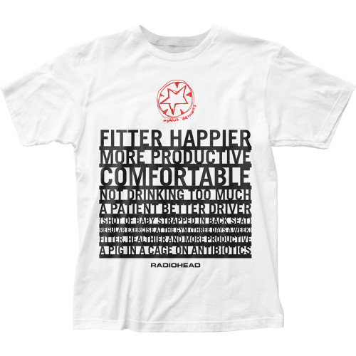 Image for Radiohead Fitter Happier T-Shirt
