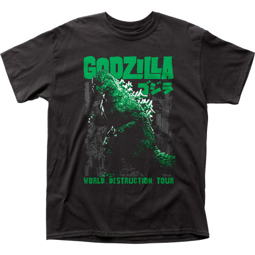 Front image for Godzilla T-Shirt - World Destruction Tour