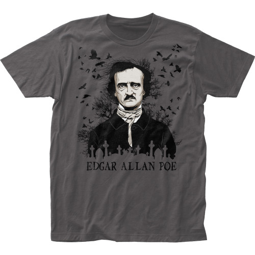 Image for Edgar Allan Poe T-Shirt - the Raven