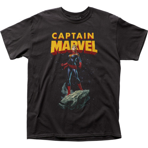 Image for Captain Marvel T-Shirt - Asteroid