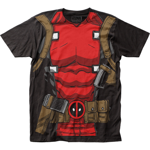 Image for Deadpool Subway T-Shirt - Muscle Suit Big Print