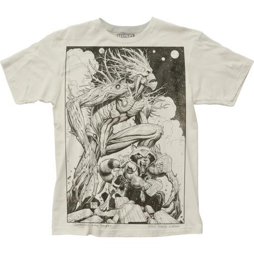 Image for Guardians of the Galaxy Subway T-Shirt - Groot & Rocket Big Print